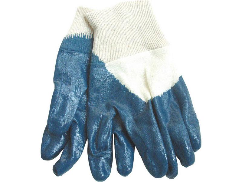"""rukavice bavlněné polomáčené v nitrilu, 8"""", velikost 8"""", dámské, náplet"""