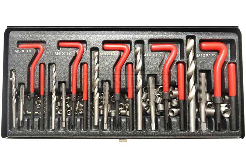 Sada pro opravu závitů M5 -M12, 131 dílů BASS
