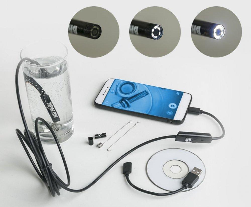 Endoskopická HD kamera, voděodolná, USB BASS BP-5999