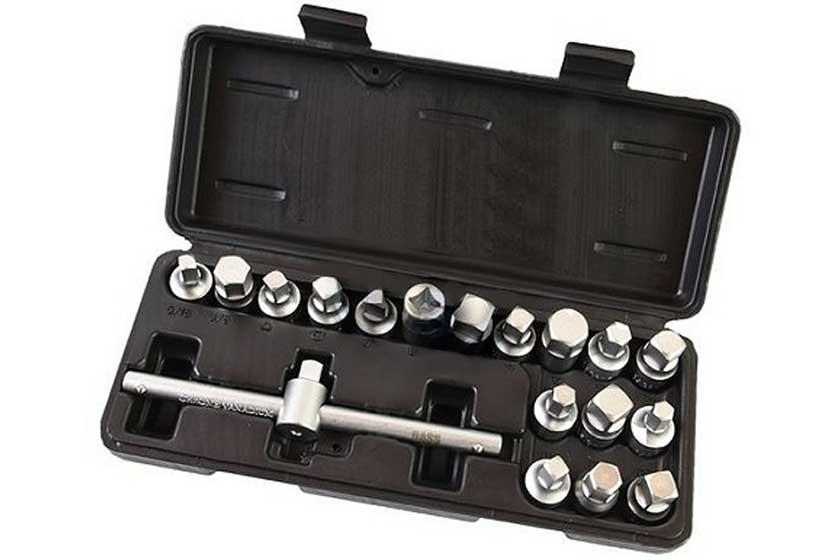Nástrčné klíče na zátky olejových van 18 dílů, BASS