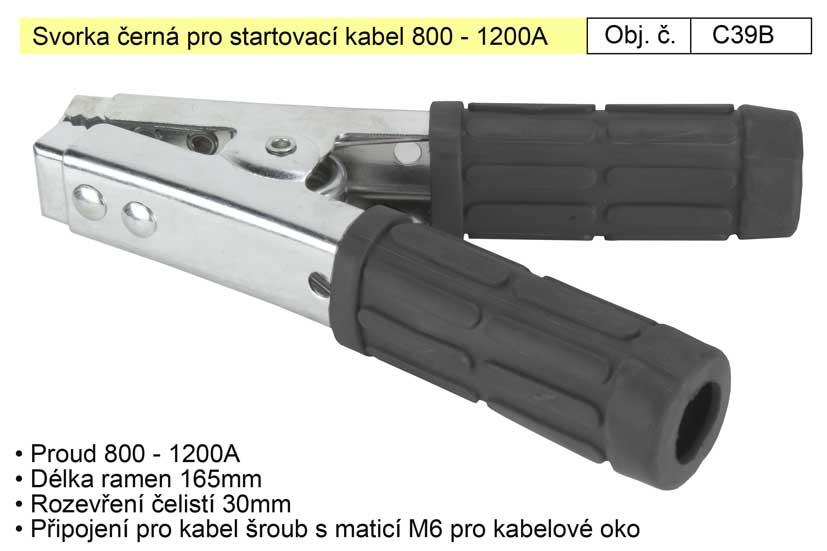 Svorka černá pro startovací kabel 800 - 1200A