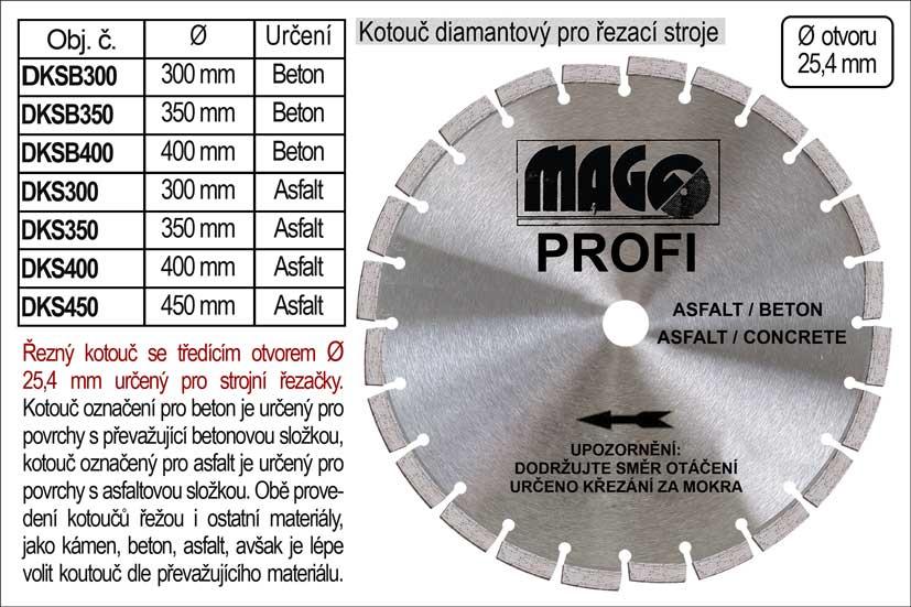 Kotouč diamantový segmentový 450mm MAGG Profi na asfalt