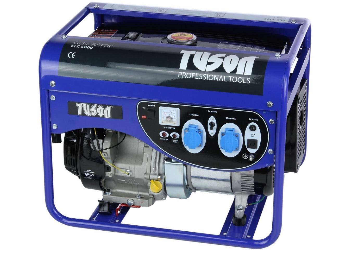 TUSON - Benzínová elektrocentrála 4000W OHV, AVR, jednofázová
