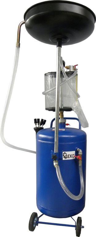 Olejová jímka s odsáváním, 8-10bar, nárž 80l, 2 krabice, GEKO G02120