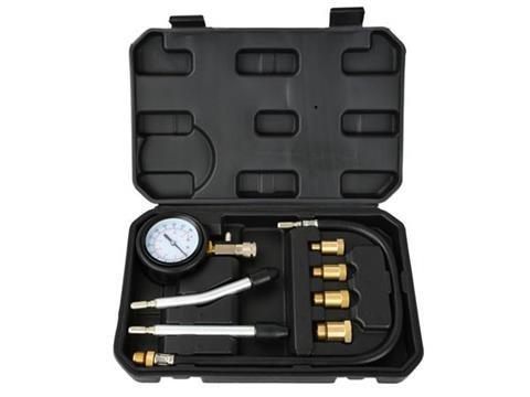 Kompresiometr pro zážehové motory, sada 8ks, tester komprese GEKO