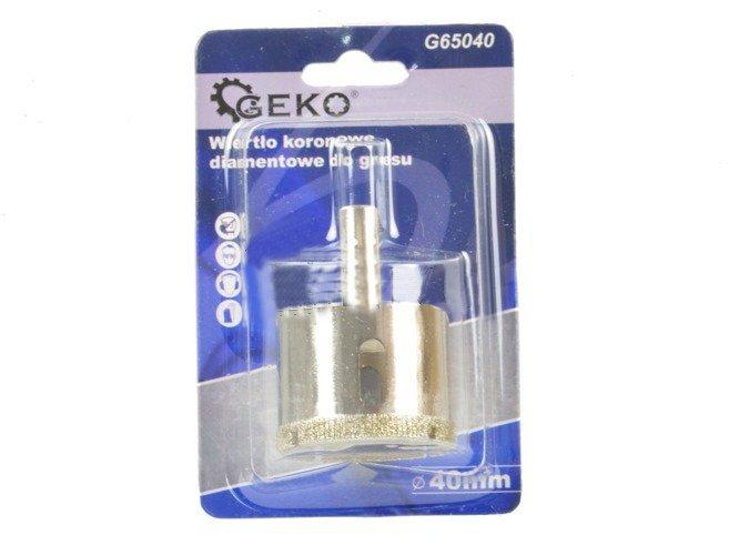 Korunkový vrták diamantový na dlaždice 40mm GEKO