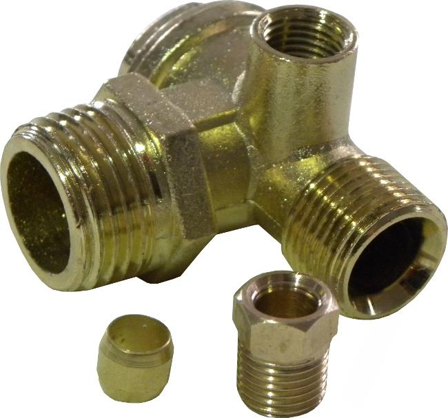 """Zpětný ventil ke kompresoru 1/2"""" x M14 x 1/4"""""""