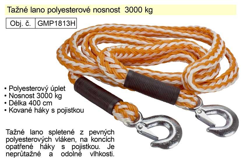 Tažné lano polyesterové nosnost 3000 kg, délka 4m
