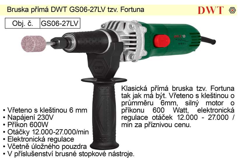 Bruska přímá vysokoobrátková 600 W DWT GS06-27LV
