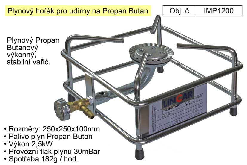 Plynový hořák pro udírny na Propan Butan