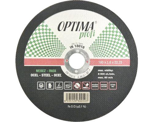 Kotouč řezný na  nerez 180x1,6mm OPTIMA profi