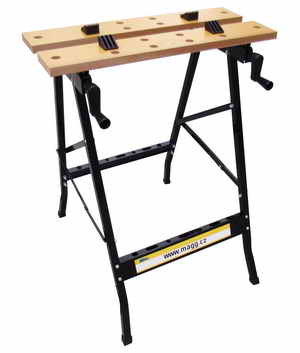 Pracovní stůl rozkládací s upínáním, pracovní deska šíře 560mm, hloubka 200-300mm Nářadí 6Kg JDT025