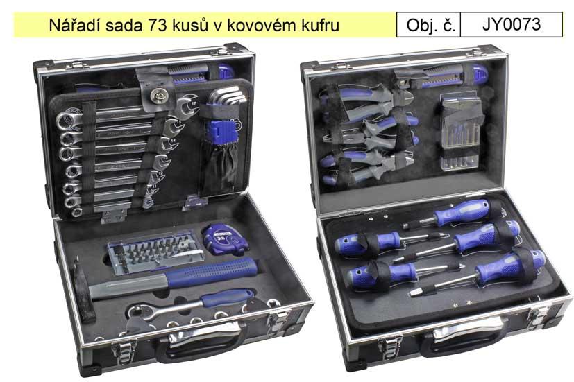 Nářadí sada 73 kusů v kovovém kufru  - Magg JY0073