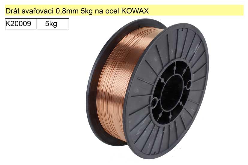 Drát svařovací 0,8mm 5kg na ocel KOWAX KWX30805