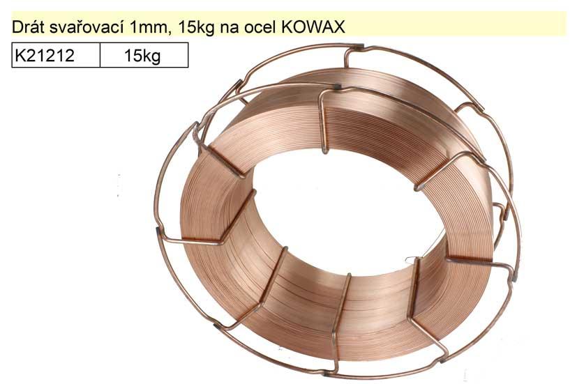 Drát svařovací 1mm, 15kg na ocel KOWAX