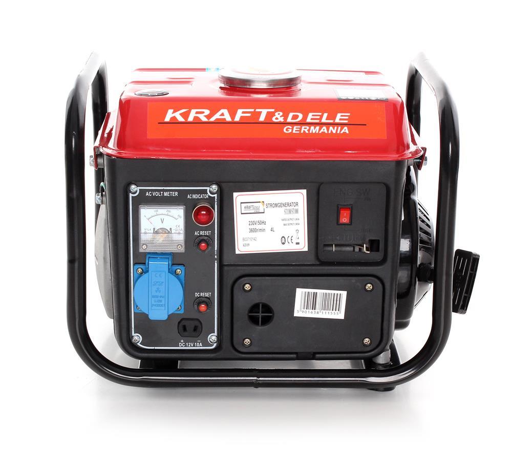 Elektrocentrála benzínová 800W, 12/230V KD109 KRAFT&DELE