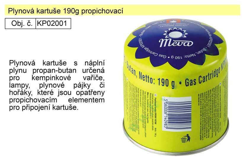 Plynová kartuše 190g propichovací