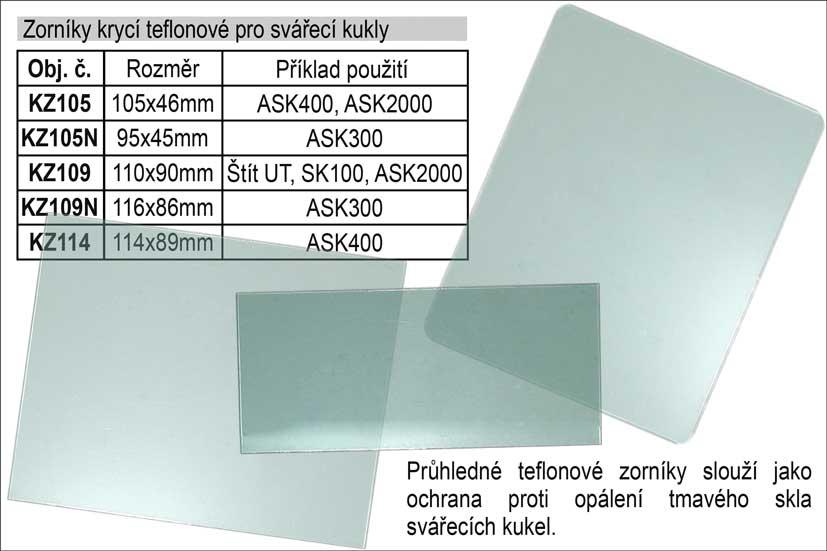 Zorník krycí teflonový 114x88mm