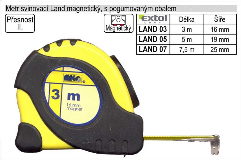 Metr svinovací Land 03 magnetický délka 3m