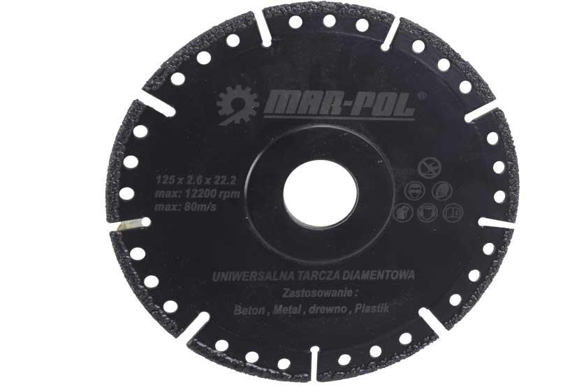 Kotouč diamantový univerzální 125mm pro keramiku, beton, kámen, plast, ocel Nářadí 0.1Kg M08501