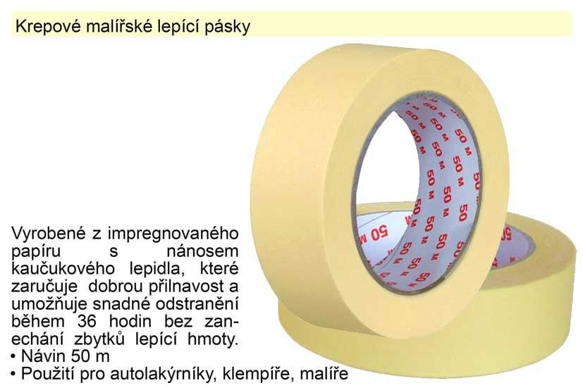Krepová lepící páska 75mm x 50m
