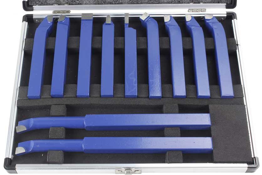 Soustružnické nože sada 11 kusů profil  16x16mm Bass