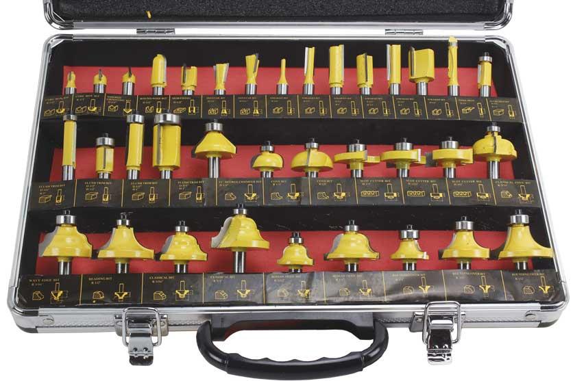 Frézy stopkové sada 35 kusů se stopkou 8mm Mar-Pol (21453)