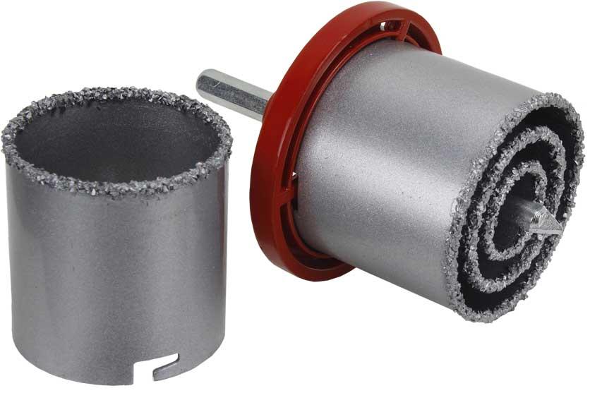 Vrták karbidový na dlaždice sada 33-73mm vykružovací MAR-POL (MA19600)