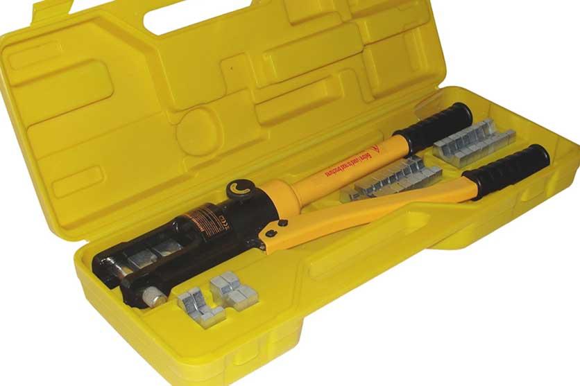 Kleště hydraulické lisovací na koncovky kabelů 10-300mm2 tlak 18 tun GEKO