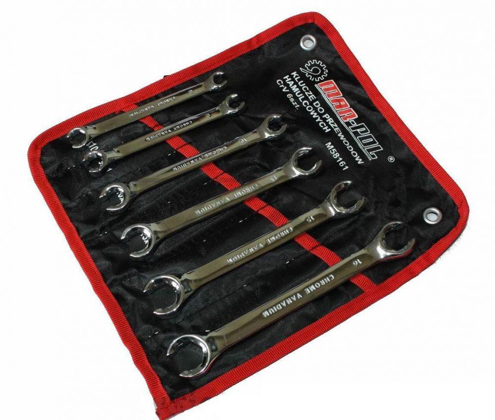 Klíče na převlečné matice a brzdové trubky sada 6 - 18 mm (YT-0143)
