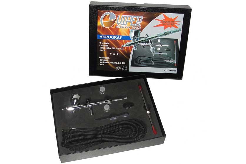 Airbrush - stříkací pistolka s regulací + 3 trysky MAR-POL