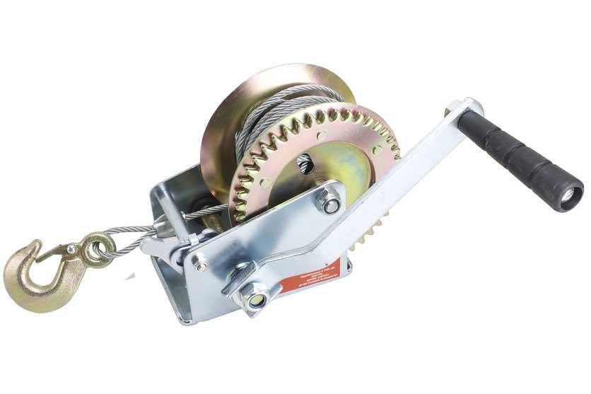 Naviják ruční včetně lana a háku, nosnost  454 kg MAR-POL (26705)