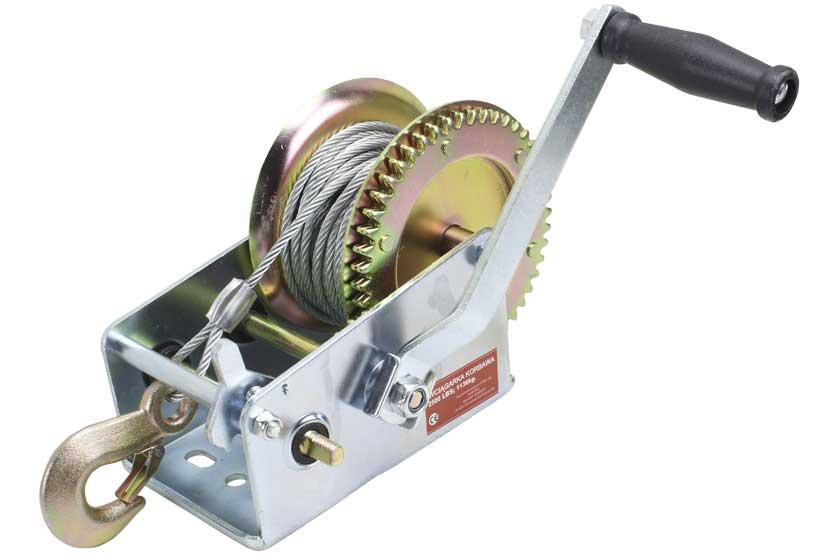Naviják ruční včetně lana a háku, nosnost  1136 kg MAR-POL (26707)