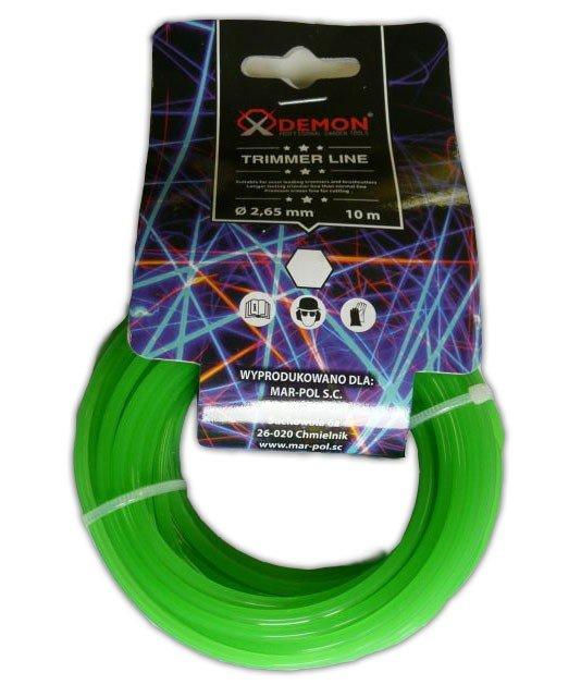 Struna 6-hran 10m 2,4mm MAR-POL (zelená)