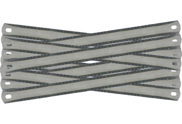 Pilové  listy na kov, 72 kusů, délka 300  mm, oboustranné, Extol Craft