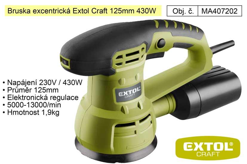 Bruska excentrická 125 mm 430 W Extol 407202