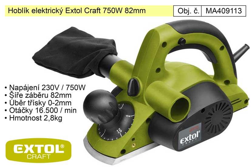Hoblík elektrický 82 mm 750 W Extol Craft Nářadí-Sklad 2 | 3,34 Kg
