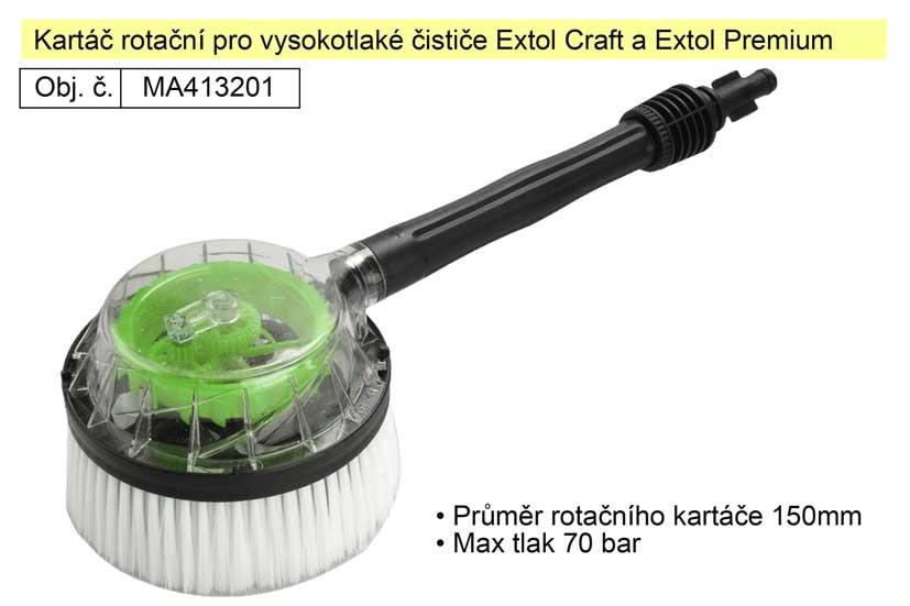 Kartáč rotační pro vysokotlaké čističe Extol