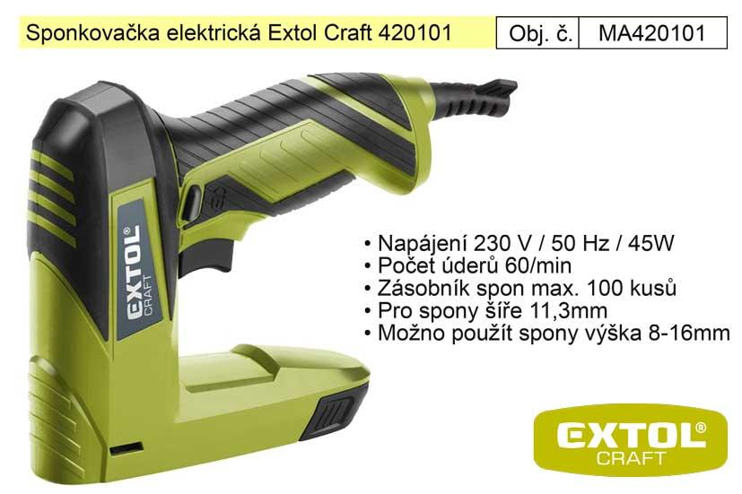 Sponkovačka elektrická Extol Craft 420101 45W