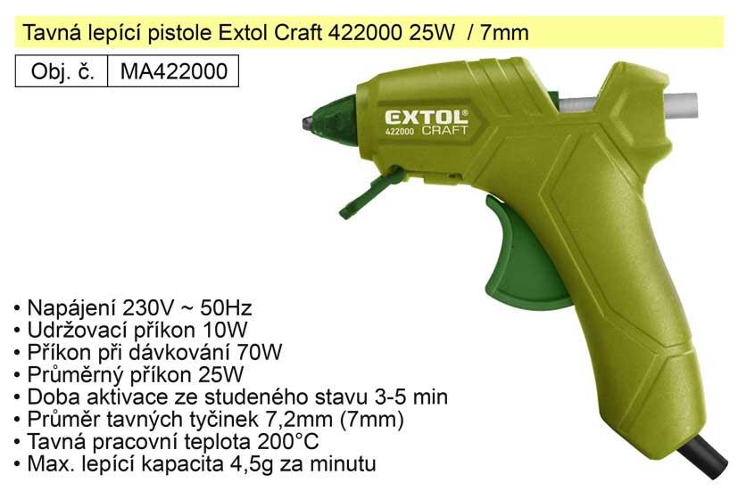 Tavná lepící pistole Extol Craft 422000 25W / 7mm