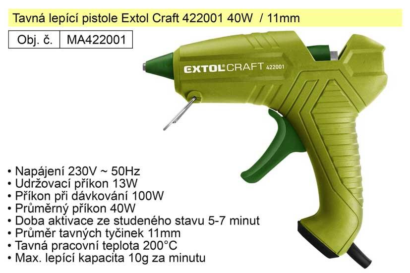 Tavná lepící pistole Extol Craft 422001 40W  / 11mm