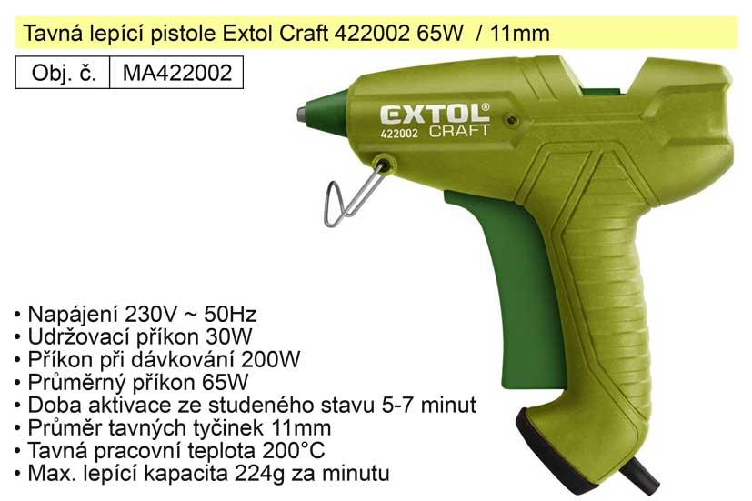 Tavná lepící pistole Extol Craft 422002 65W  / 11mm Nářadí 0.392Kg MA422002