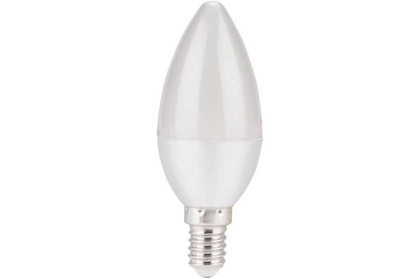 Žárovka LED svíčka, 5W, 410Lm, E14, teplá bílá, EXTOL LIGHT 43021