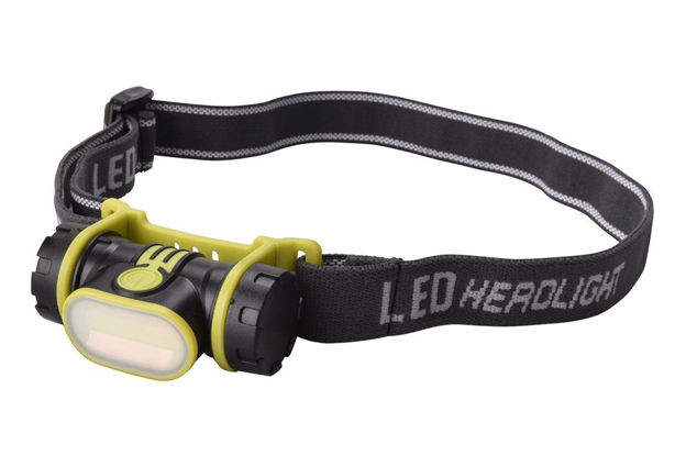 Čelová svítilna LED 2W 90lm širokoúhlá COB LED