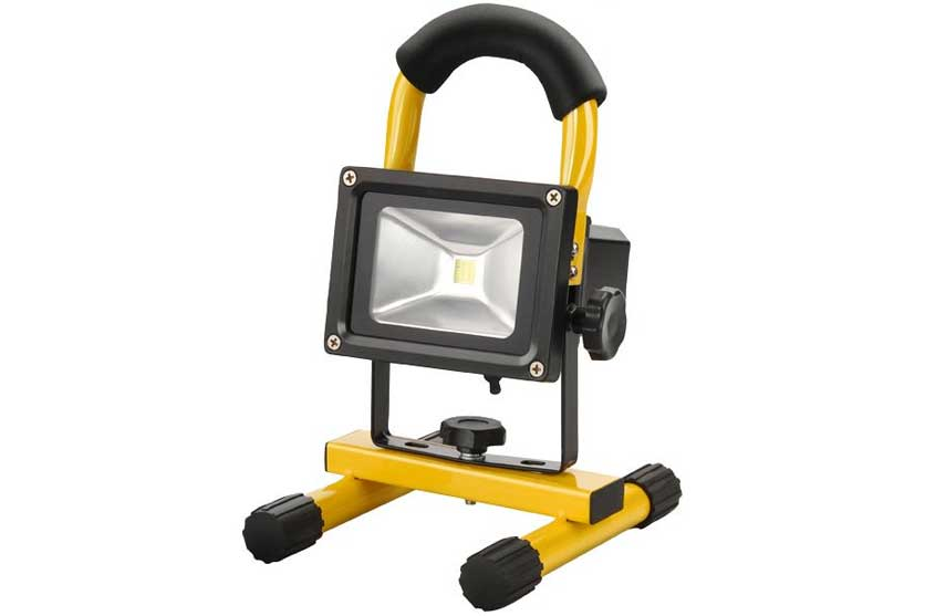 Reflektor LED 10 W s akumulátorem se stojánkem Extol