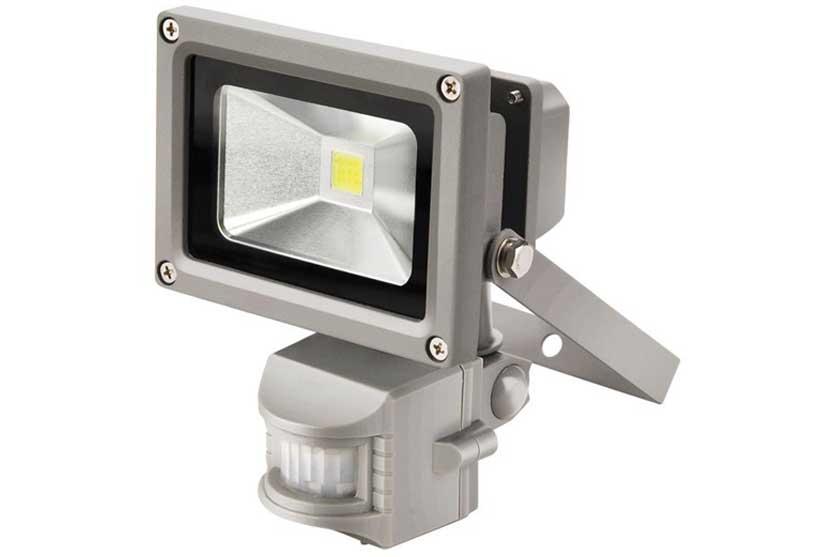 Reflektor LED 10 W s PIR čidlem a konzolí bílý Extol