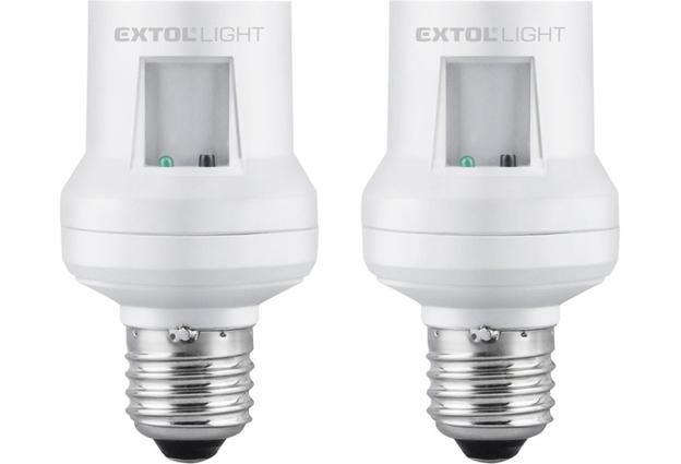 Objímky na žárovky dálkově ovládané 2 kusy,  dosah 30m Extol Light