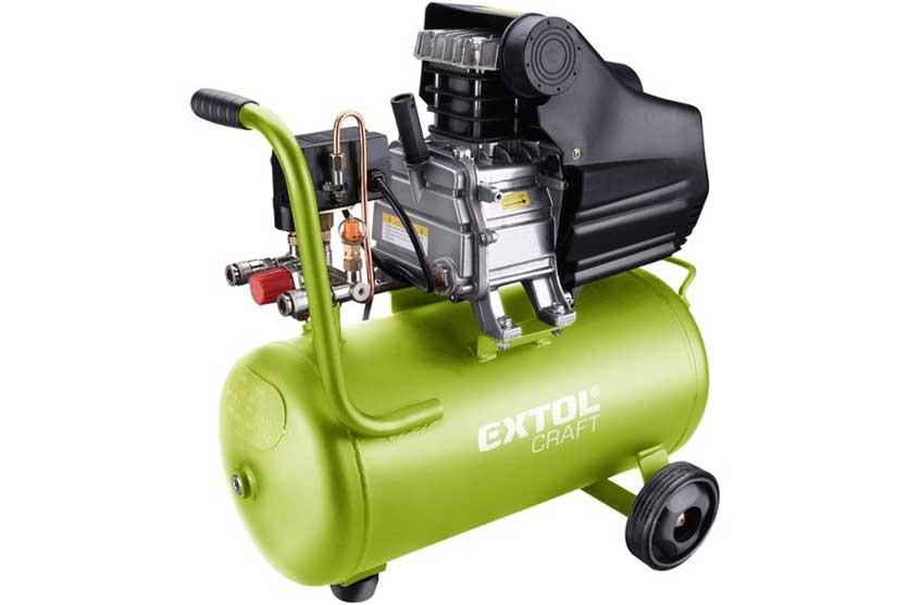 Kompresor Extol Craft 24L 8bar 154 L/min s olejovým mazáním
