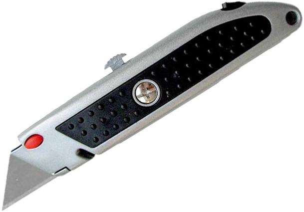 Nůž žiletkový EXTOL CRAFT kovový se zásobníkem 5 kusů čepelí