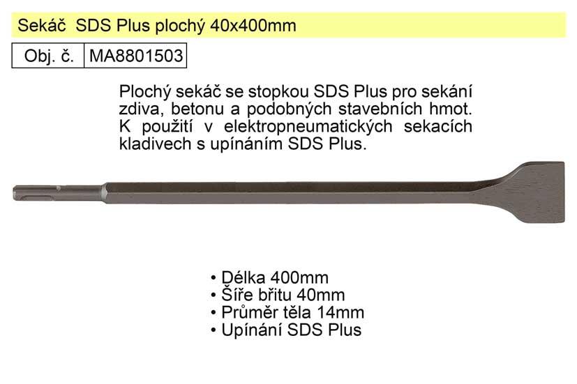 Sekáč SDS Plus plochý 40x400mm Nářadí 0.496Kg MA8801503